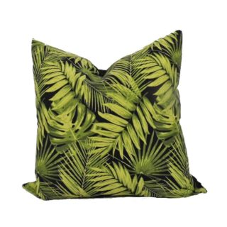 Black Palm Leaf Feather Inner Scatter Cushion