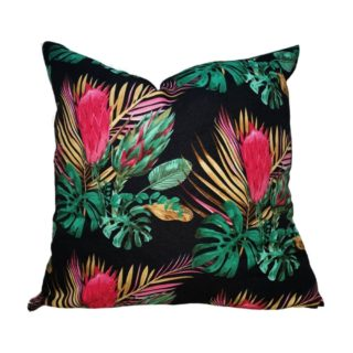 Black Protea / Tropical Feather Inner Scatter Cushion