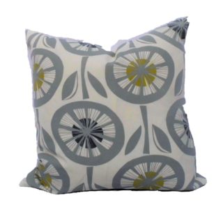 Grey Circle Feather Inner Scatter Cushion