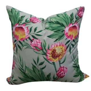 Grey Protea Feather Inner Scatter Cushion