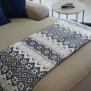 Grey Snowflake Throw / Blanket