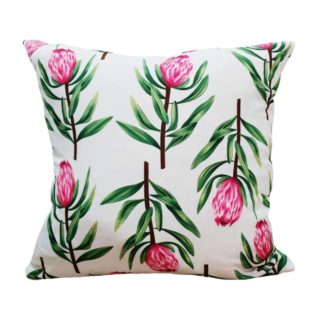 White Protea Feather Inner Scatter Cushion