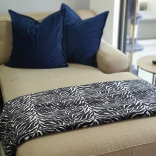 Zebra Print Faux Fur Throw / Blanket